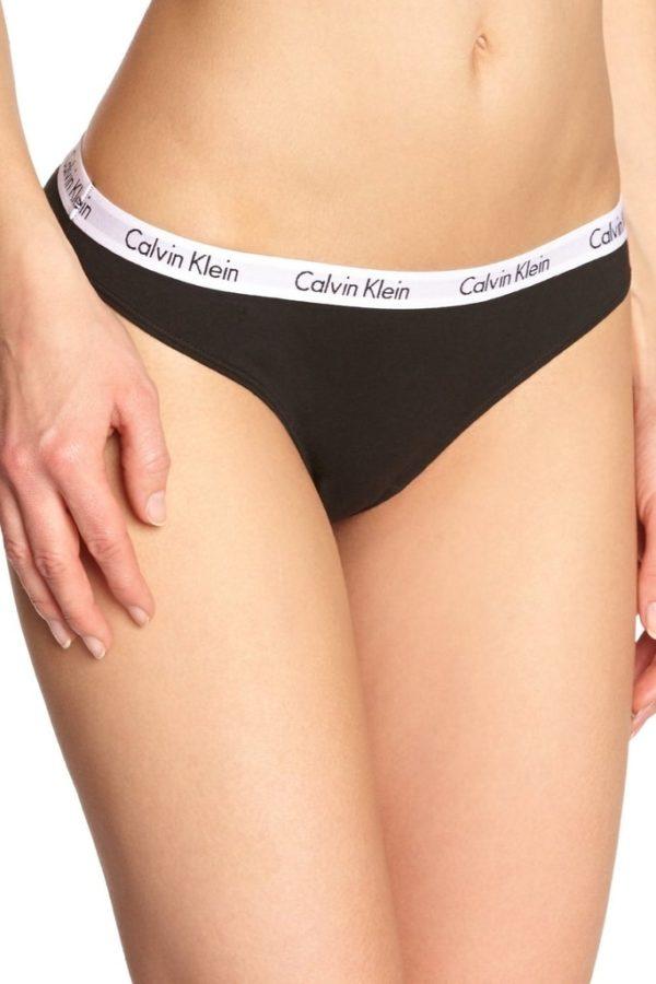 Calvin Klein Nohavičky Tanga cierne D1617E čierne