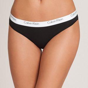 Calvin Klein Nohavičky Tanga 2P Ck One QD3583E čierne