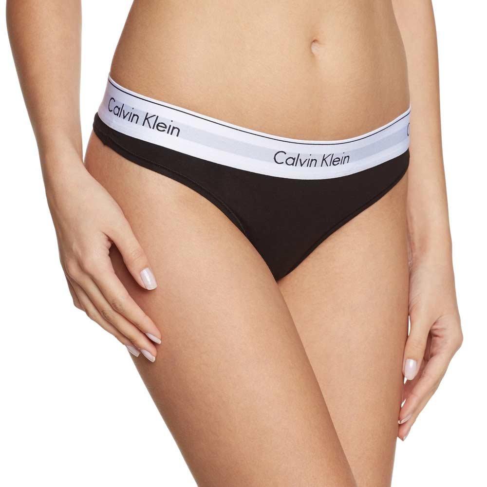46f4c9e88d Calvin Klein Nohavičky Tangá Modern Cotton F3786E čierne - Spodné ...
