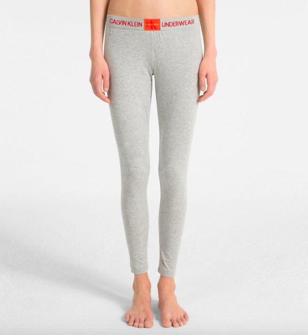 Calvin Klein dlhé nohavice leginy QS6161E šedé monogram