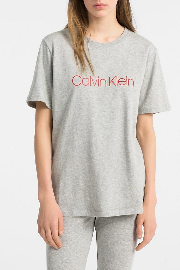 5851f2bb9 Calvin Klein Dámske Tričko QS6151E šedé monogram - Spodné prádlo a ...