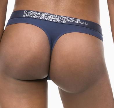 Calvin Klein nohavičky tanga 1981 QF5184E modré