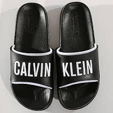 4b979b70f7 plazove slapky calvin klein Calvin Klein dámske žabky čierne W00779 930