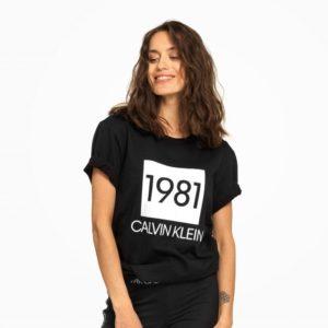 Calvin Klein Dámske Tričko QS6343E čierne